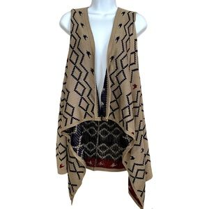 Do Everything In Love Open Front Long Sweater Vest Cardigan One Size Open waterf